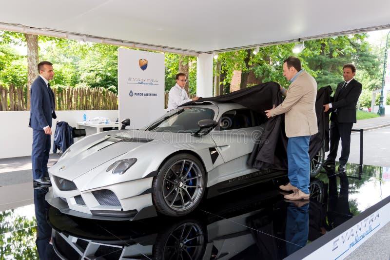 Parco Valentino - Car Show do ar livre em Turin - segunda edição 2016 fotografia de stock