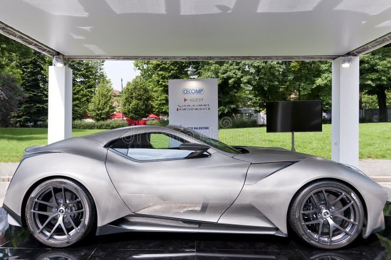 Parco Valentino - Car Show do ar livre em Turin - segunda edição 2016 foto de stock royalty free