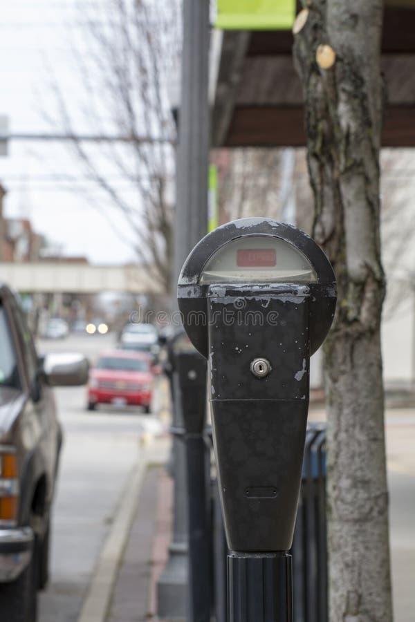 Parcomètre de rue image libre de droits
