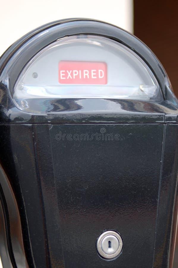 Parcomètre expiré photographie stock