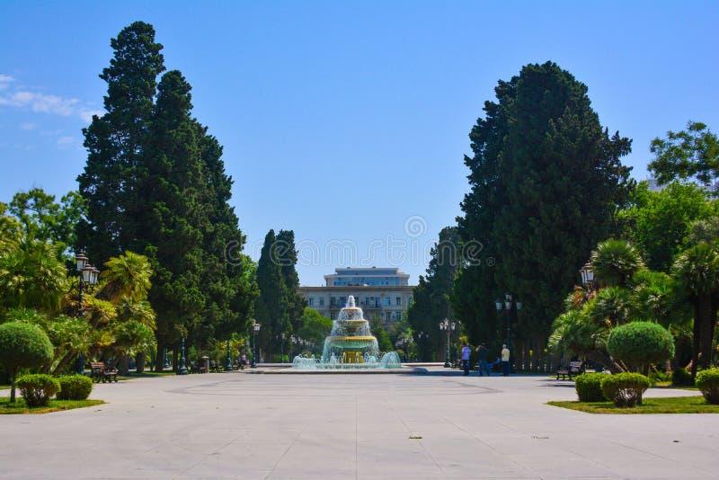 Parcs de ville de Bakou photos stock