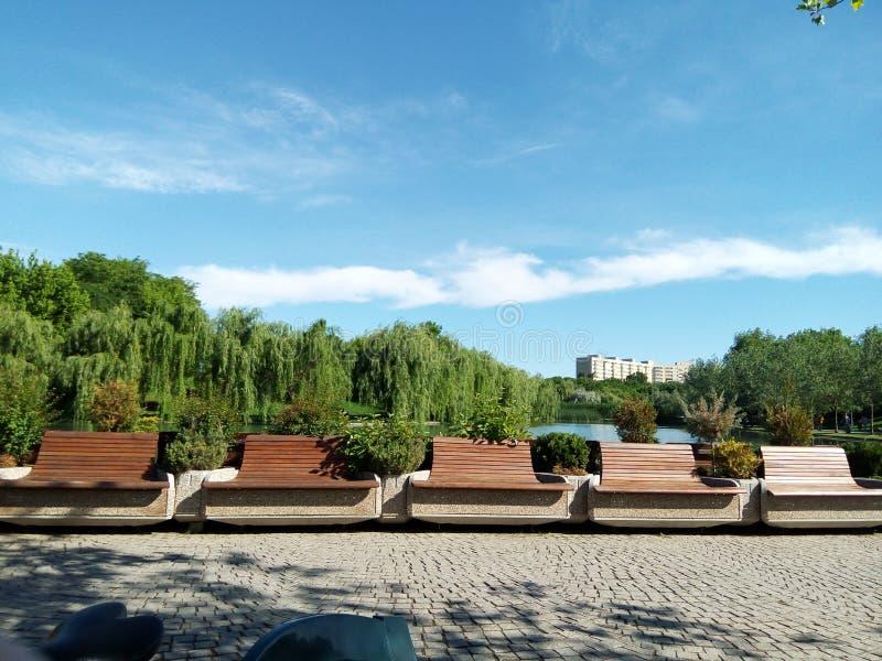 Parcul Alexandru Ioan Cuza,布加勒斯特,罗马尼亚 免版税图库摄影