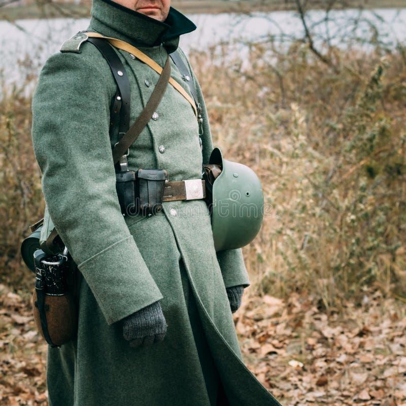 Pardessus d'un soldat allemand de la deuxième guerre mondiale photo stock