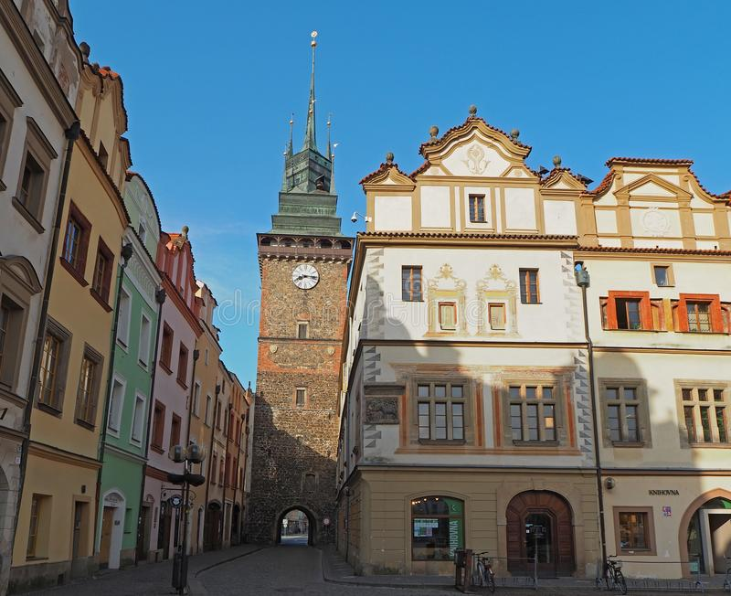 Pardubice, Czech Republic. The green tower one of the symbols of the city. Pardubice, Czech Republic. The old green tower one of the symbols of the city royalty free stock image