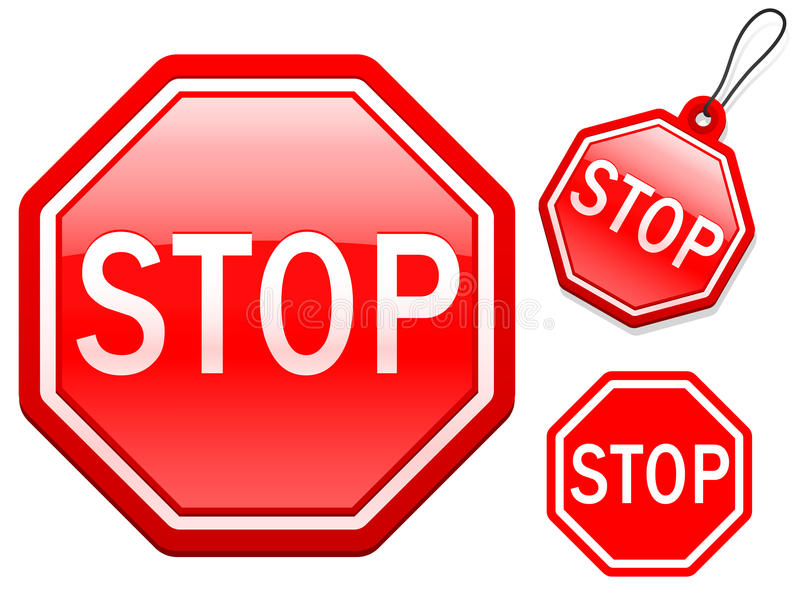Pare a coleção do sinal ilustração royalty free