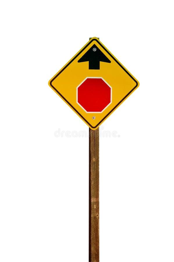 Pare a continuación la señal de peligro foto de archivo libre de regalías