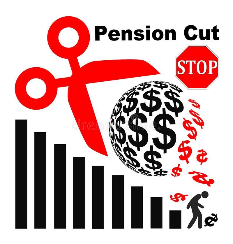 Pare cortes da pensão ilustração do vetor