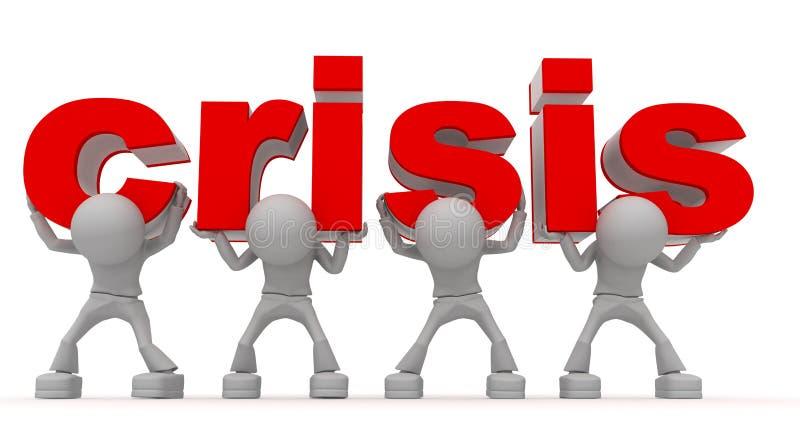 Pare a crise ilustração stock