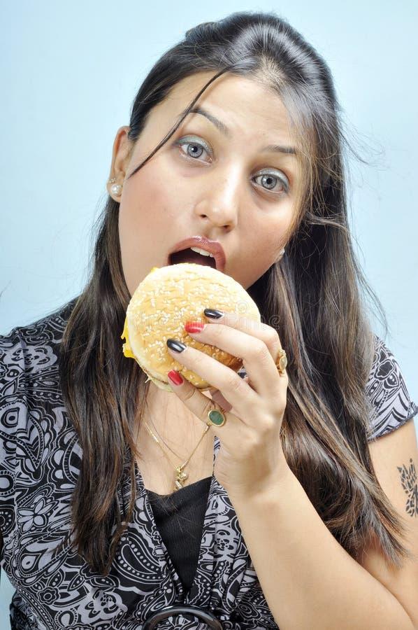 Pare de comer a comida lixo imagem de stock royalty free