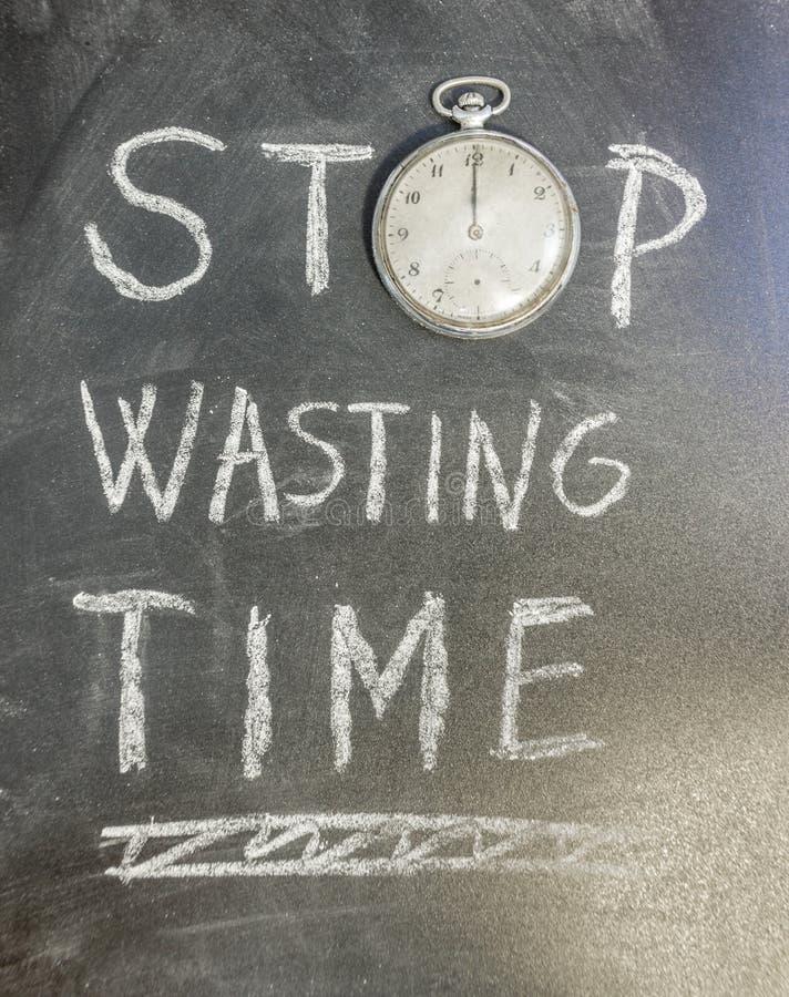 Pare de desperdiçar o tempo fotos de stock