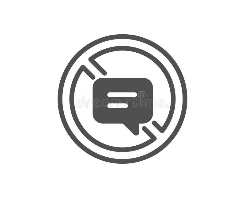 Pare de falar o ícone Mensagem ou SMS do bate-papo Vetor ilustração do vetor