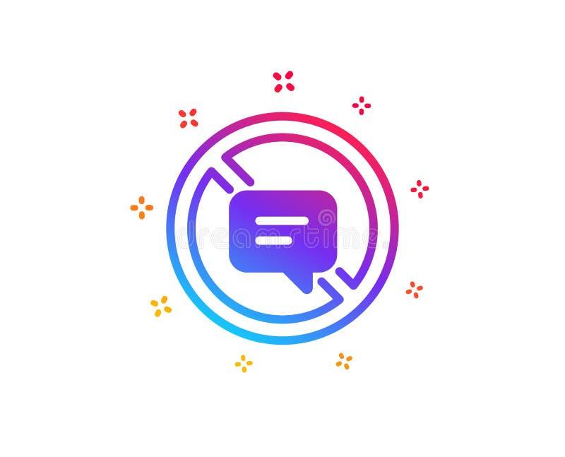 Pare de falar o ?cone Mensagem ou SMS do bate-papo Vetor ilustração stock