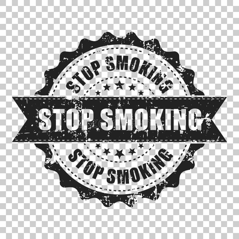 Pare de fumar o carimbo de borracha do grunge do risco Ilustração do vetor sobre ilustração do vetor