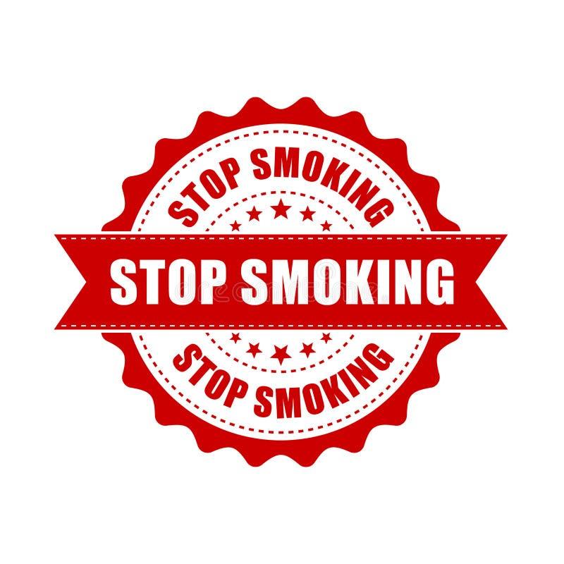 Pare de fumar o carimbo de borracha do grunge Ilustração do vetor em b branco ilustração do vetor