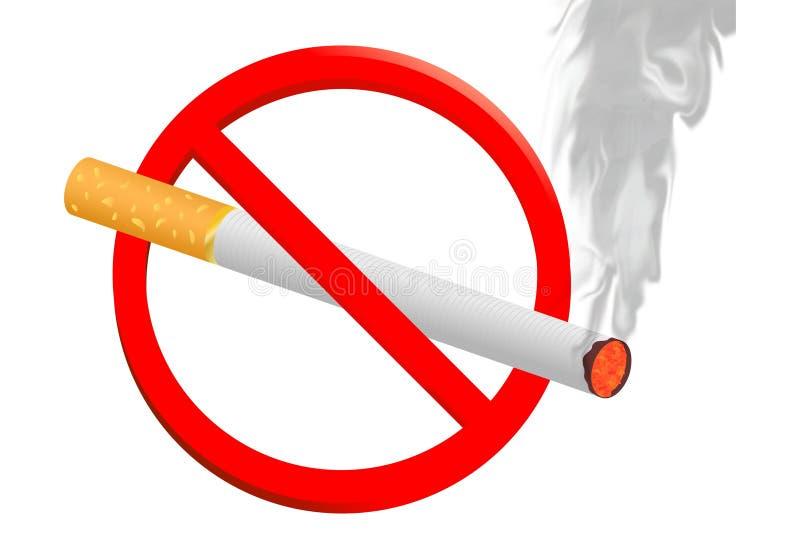Pare de fumar o sinal ilustração do vetor