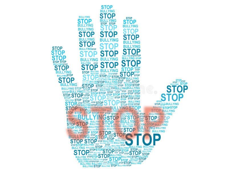 Pare de tiranizar ilustração stock