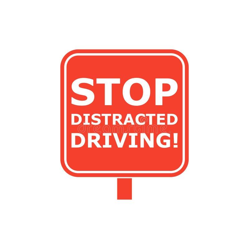 Pare distraído conduciendo la muestra libre illustration