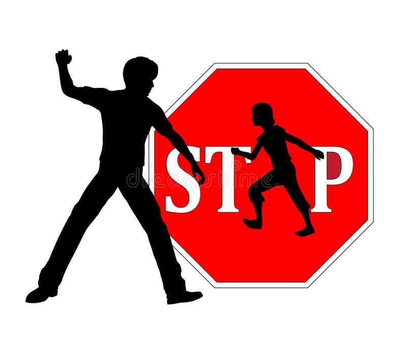 Pare el batir de niños ilustración del vector