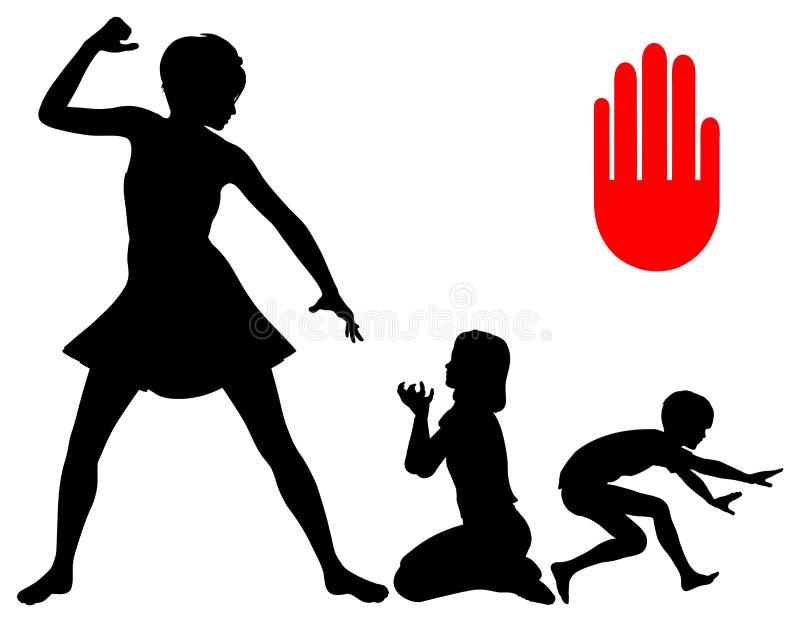 Pare el castigo corporal stock de ilustración