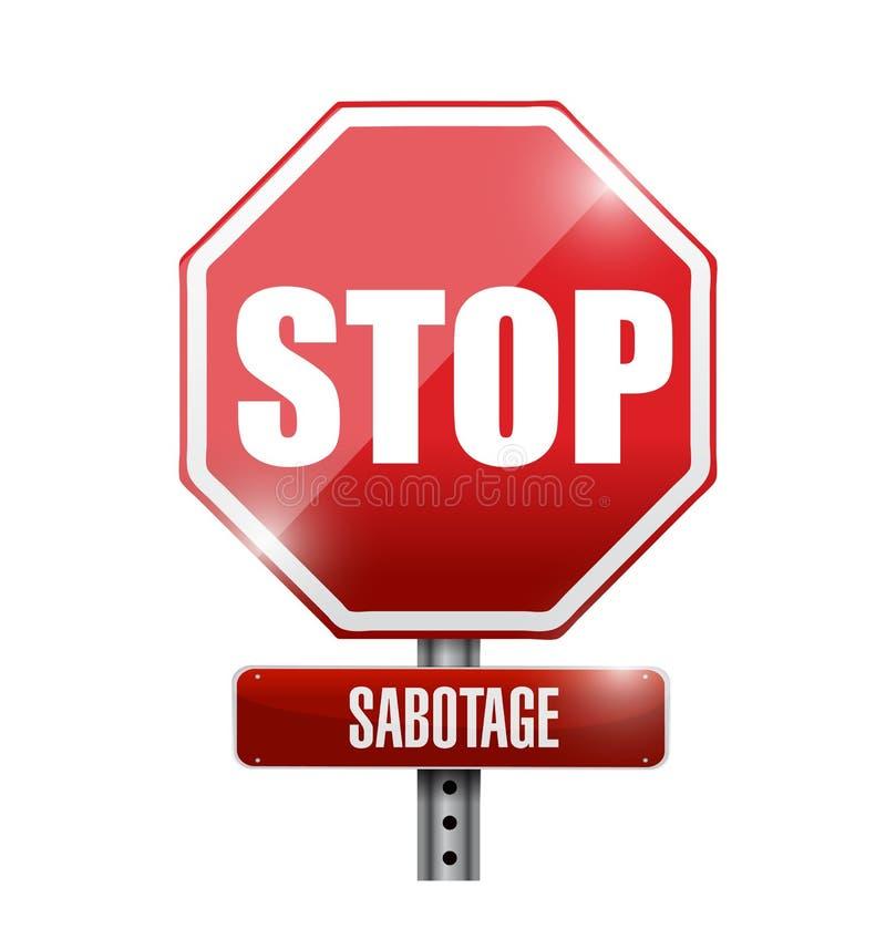 Pare el diseño del ejemplo de la señal de tráfico del sabotaje ilustración del vector
