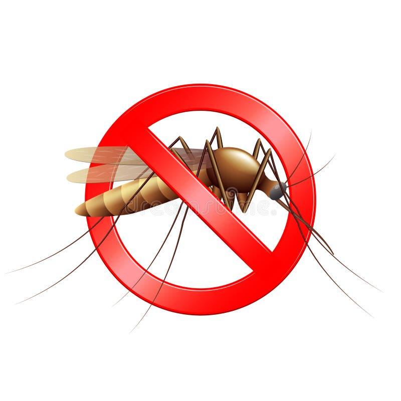 Pare el ejemplo aislado muestra del vector del mosquito libre illustration