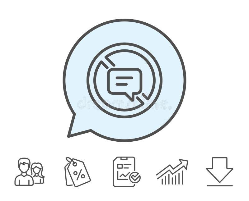 Pare el hablar de la línea icono Mensaje o SMS de la charla stock de ilustración