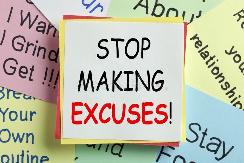 Pare el hacer de concepto de las excusas fotos de archivo
