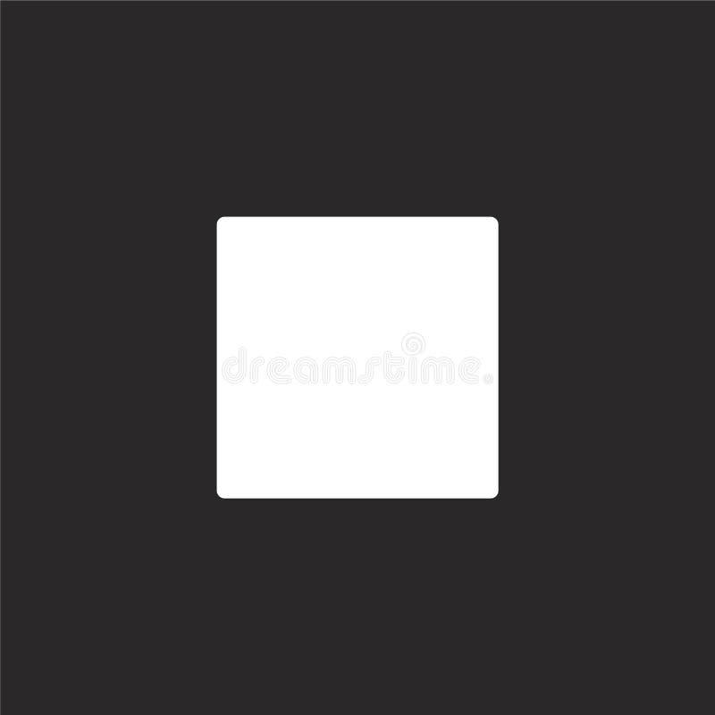 Pare el icono Icono llenado de la parada para el diseño y el móvil, desarrollo de la página web del app icono de la parada de la  stock de ilustración