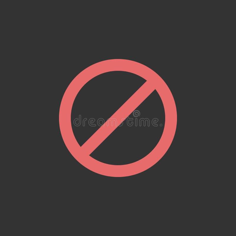 Pare el icono, no, prohibido, prohibido libre illustration