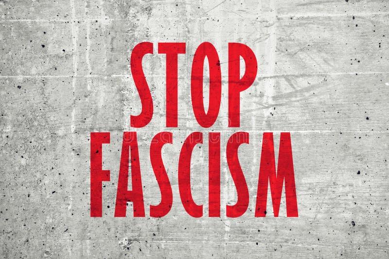 Pare el mensaje del fascismo imagenes de archivo
