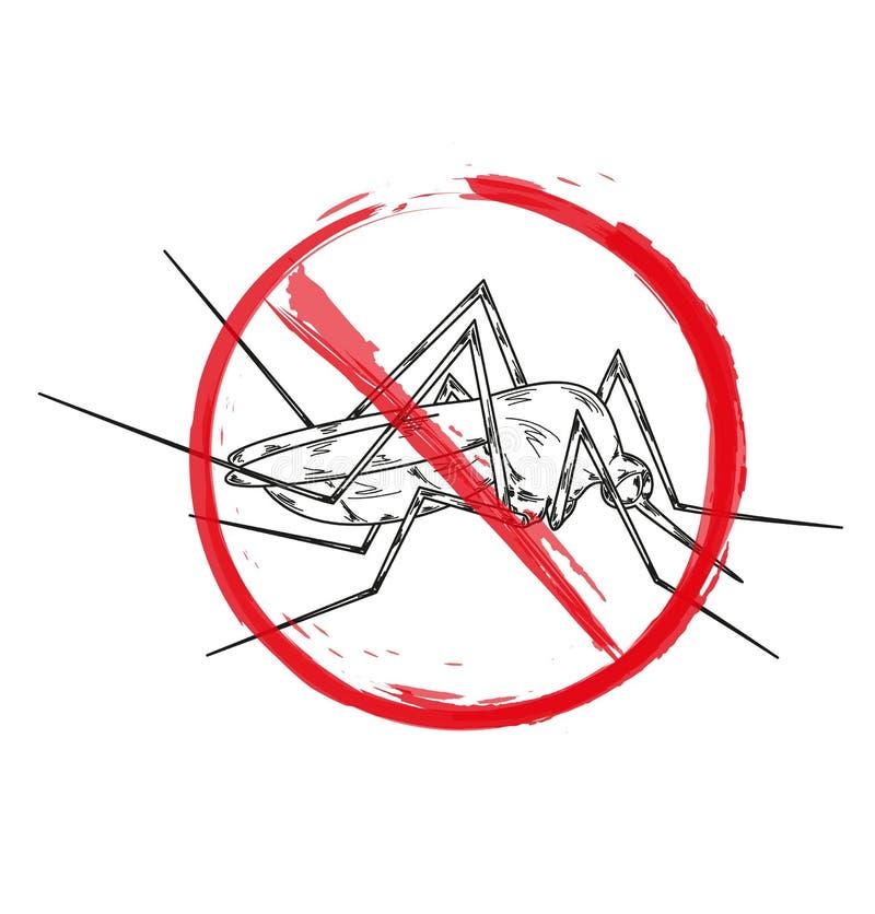 Pare el mosquito stock de ilustración