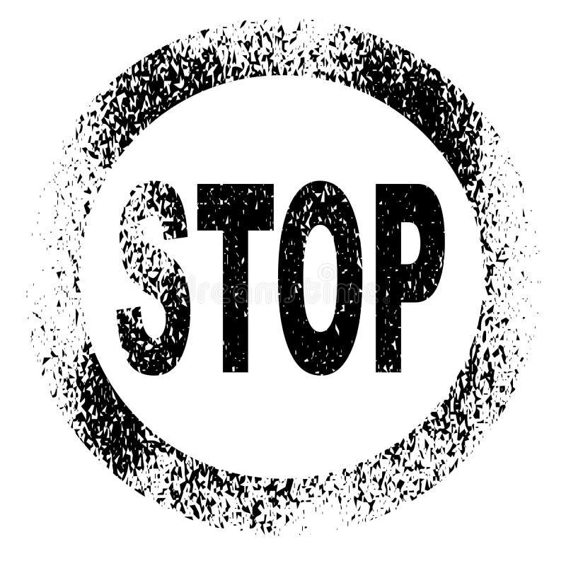 Pare el sello stock de ilustración