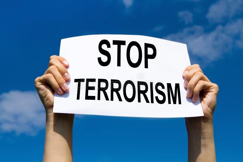 Pare el terrorismo fotos de archivo libres de regalías