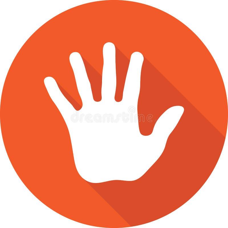 Pare el vector del icono de la mano