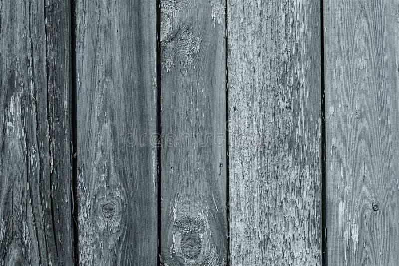 Pare en bois peint Anciennes planches de bois gris, texture de grunge craquée Bois de chabby de style vintage Modèle abstrait images libres de droits