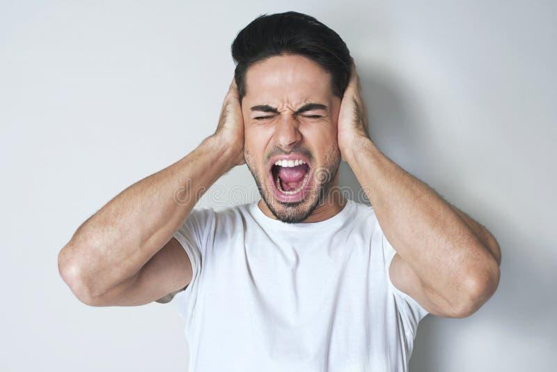 Pare esse ruído alto! fotos de stock