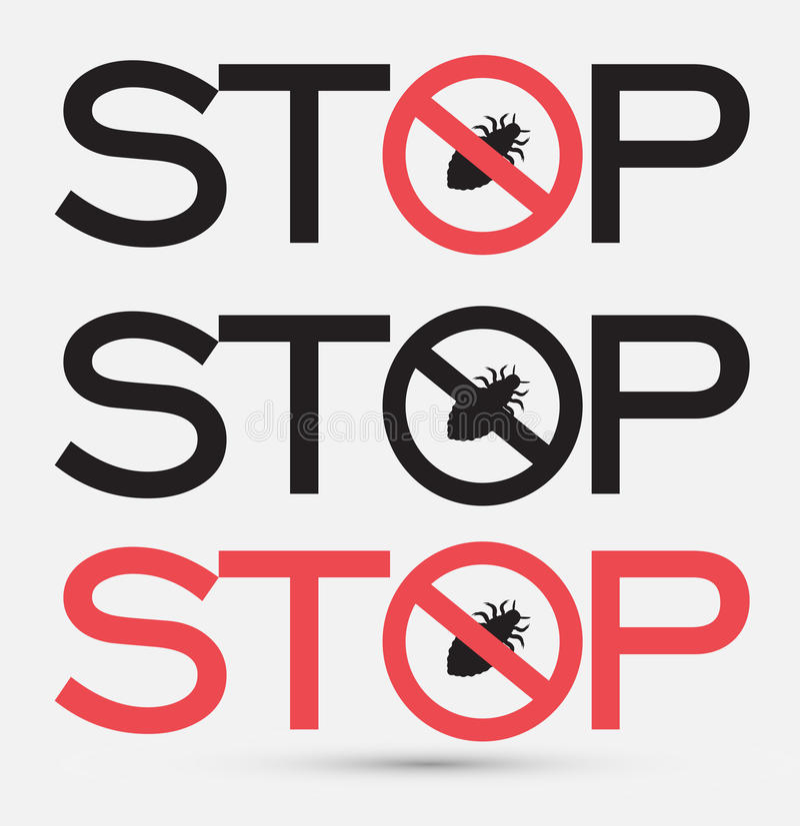 Pare etiquetas das mensagens do vírus ilustração royalty free