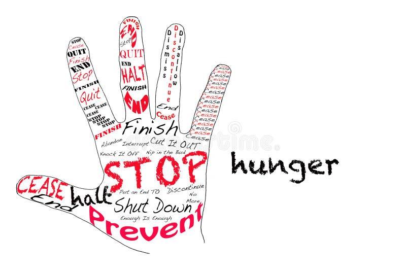 Pare a fome ilustração royalty free
