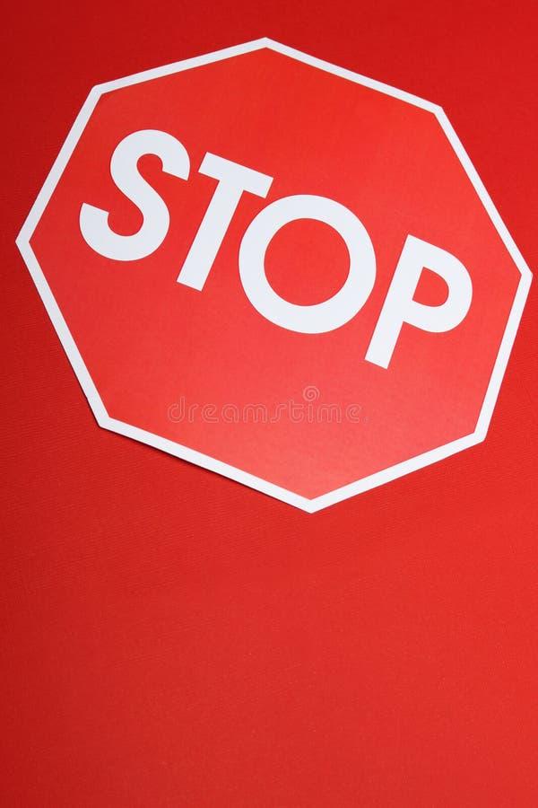 Pare a foto do sinal imagem de stock royalty free