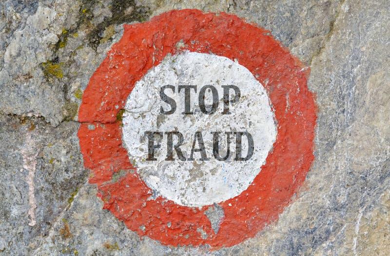 Pare a fraude imagens de stock
