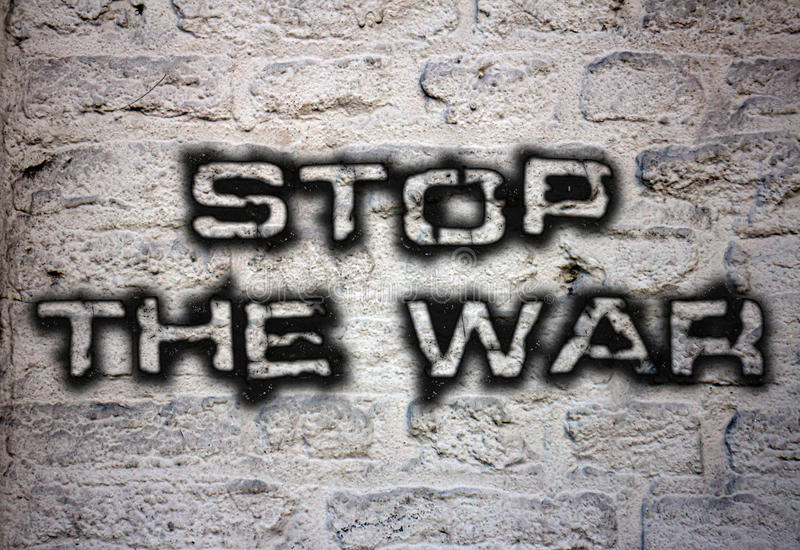 Pare a guerra ilustração do vetor