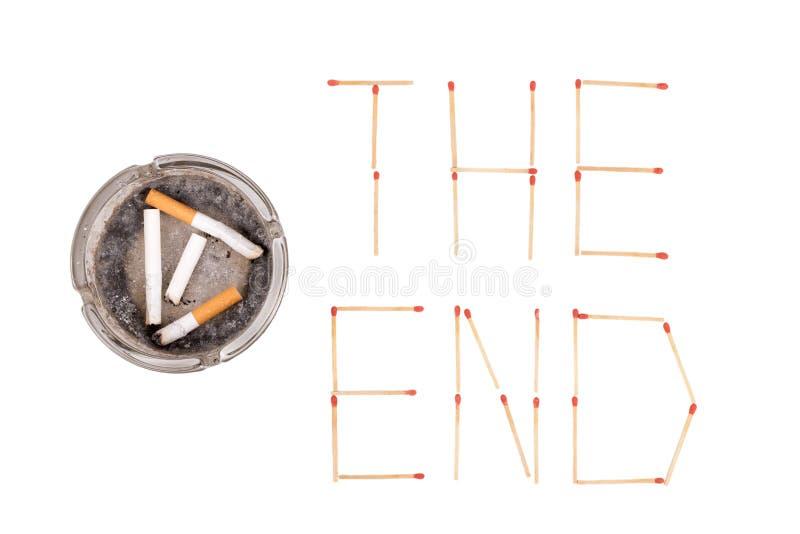 Pare a imagem anti-fumaça rendida Smoking imagens de stock