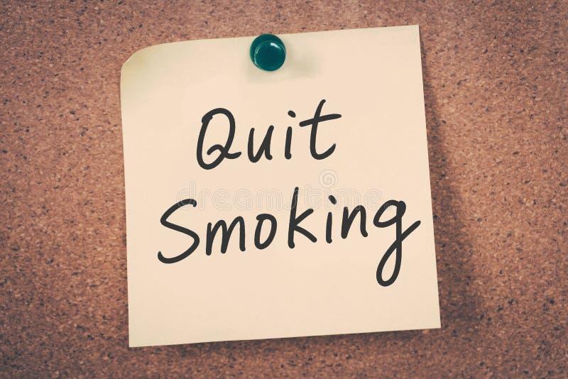 Pare a imagem anti-fumaça rendida Smoking foto de stock