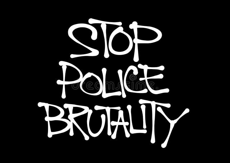 Pare la brutalidad policial ilustración del vector