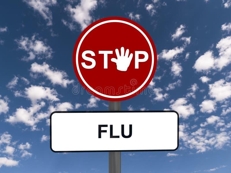 Pare la gripe amonestadora de la muestra stock de ilustración