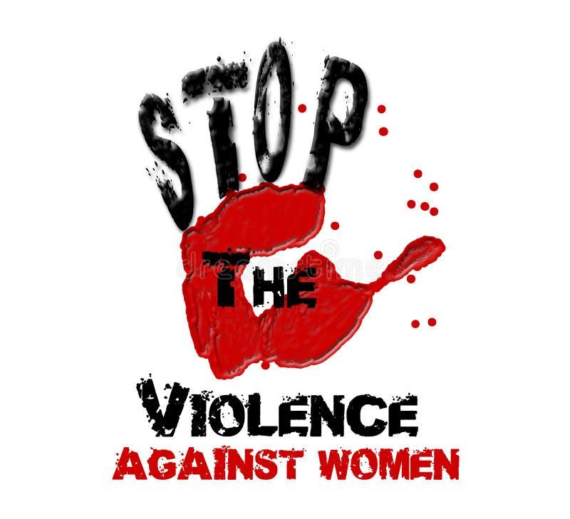 Pare la mano de la violencia libre illustration