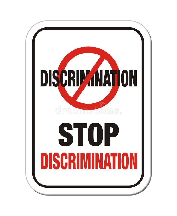 Pare la muestra de la discriminación ilustración del vector