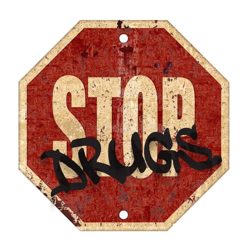 Pare la muestra de las drogas ilustración del vector