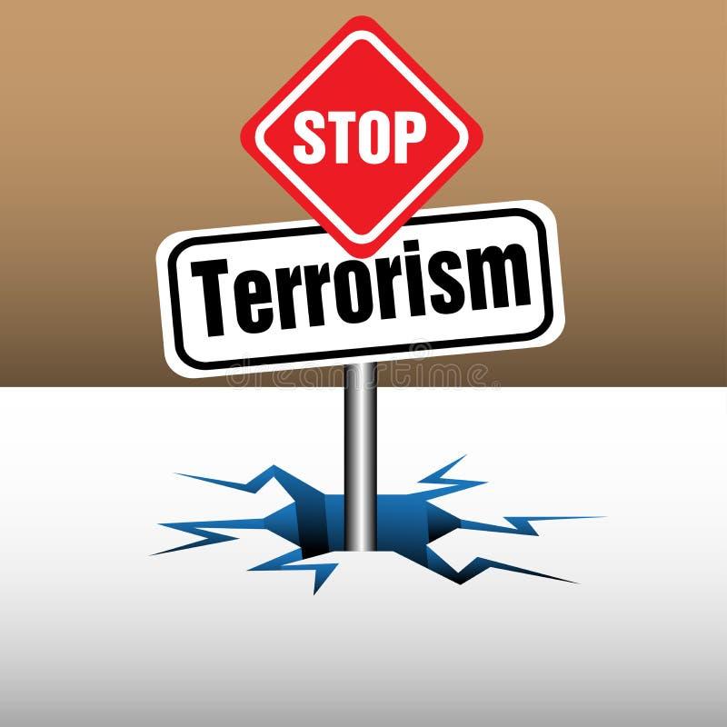 Pare la placa del terrorismo libre illustration