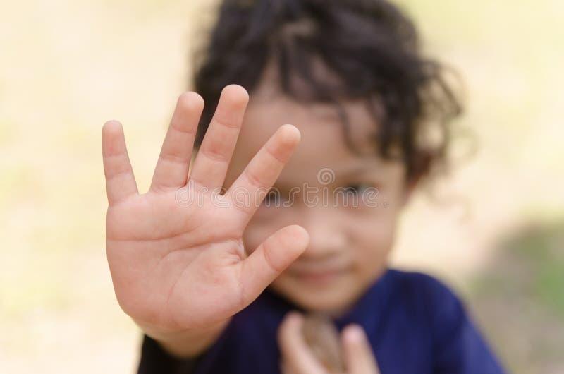 Pare la señal de mano fotografía de archivo